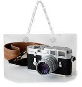 Leica M3 With Leather Strap Weekender Tote Bag