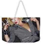 Leisure Class Palm Springs Weekender Tote Bag by William Dey