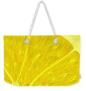 Lemon Weekender Tote Bag by Anastasiya Malakhova