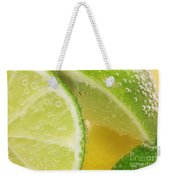 Lemon And Lime Slices In Water Weekender Tote Bag
