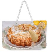 Lemon Bundtcake With Wedge Cut Out Weekender Tote Bag