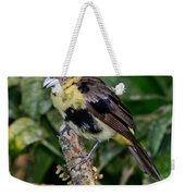 Lemon-rumped Tanager Molting Weekender Tote Bag
