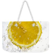 Lemon Splash Weekender Tote Bag