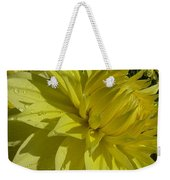 Lemon Yellow Dahlia  Weekender Tote Bag