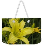 Lemon Yellow Daylily Blossom Weekender Tote Bag