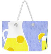 Lemonade And Glass Blue Weekender Tote Bag