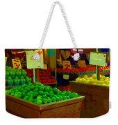 Lemons And Limes Farmers Market Food Stalls Market Vendors Vegetable Food Art Carole Spandau Weekender Tote Bag