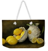 Lemons Today Weekender Tote Bag by Diana Angstadt
