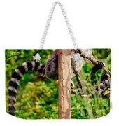 Lemur In The Green Weekender Tote Bag