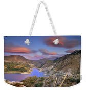 Lenticular Clouds At The Red Sunset Weekender Tote Bag