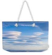 Lenticular Clouds Forming In The Troposphere Weekender Tote Bag