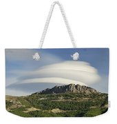 Lenticular Clouds Over Dornajo Mountain Weekender Tote Bag