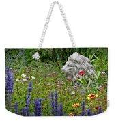 Leo In The Garden Weekender Tote Bag