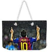 Leo Messi Poster Art Weekender Tote Bag