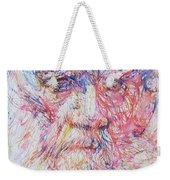 Leo Tolstoy/ Colored Pens Portrait Weekender Tote Bag