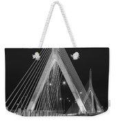 Leonard P. Zakim Bunker Hill Memorial Bridge Bw Weekender Tote Bag