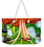 Leopard Lily Weekender Tote Bag