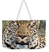 Wild Leopard In Botswana Weekender Tote Bag