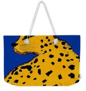 Leopard On Blue Weekender Tote Bag