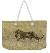 Leopard On The Move Weekender Tote Bag