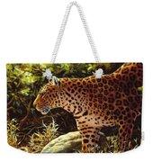 Leopard Painting - On The Prowl Weekender Tote Bag