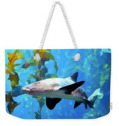Leopard Shark Watercolor Weekender Tote Bag