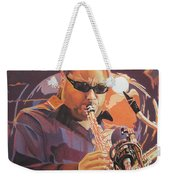 Leroi Moore Purple And Orange Weekender Tote Bag