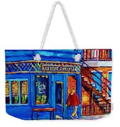 Les Belles Soeurs  Montreal Restaurant Plateau Mont Royal Painting By Carole Spandau Weekender Tote Bag