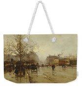 Les Boulevards Paris Weekender Tote Bag by Eugene Galien-Laloue