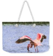 Lesser Flamingo Filter Feeding Lake Nakuru Kenya Weekender Tote Bag