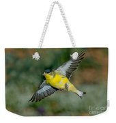 Lesser Goldfinch Male-flying Weekender Tote Bag