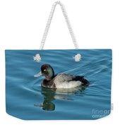 Lesser Scaup Male Swimming Weekender Tote Bag