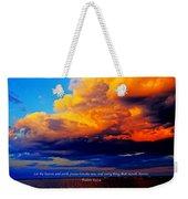 Let The Heavens Weekender Tote Bag