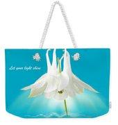 Let Your Light Shine Weekender Tote Bag by Gill Billington