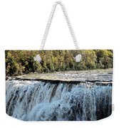 Letchworth State Park Middle Falls In Autumn Weekender Tote Bag