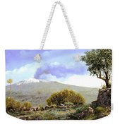 l'Etna  Weekender Tote Bag by Guido Borelli