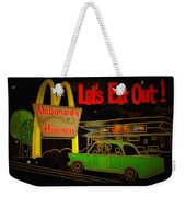 Let's Eat Out Weekender Tote Bag