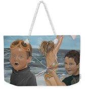Beach - Children Playing - Kite Weekender Tote Bag