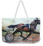 Racehorse Painting In Watercolor Let's Roll Weekender Tote Bag