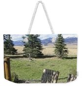 Let's Sit And Talk Awhile By Yellowstone Weekender Tote Bag