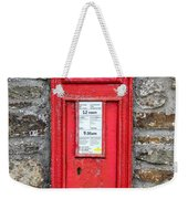 Victorian Red Letter Box Weekender Tote Bag