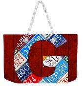 Letter G Alphabet Vintage License Plate Art Weekender Tote Bag