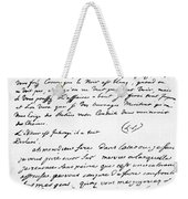 Letter To Voltaire From King Frederick Weekender Tote Bag