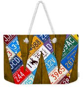 Letter W Alphabet Vintage License Plate Art Weekender Tote Bag