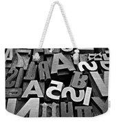 Letters And Numbers 1 Weekender Tote Bag
