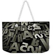 Letters And Numbers Gray Tones Weekender Tote Bag