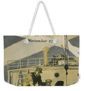Letters To Our Boys In France Weekender Tote Bag by Edward Hopper
