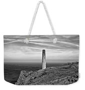 Levant To Pendeen View Black And White Weekender Tote Bag