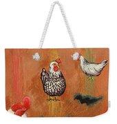 Levitating Chickens Weekender Tote Bag
