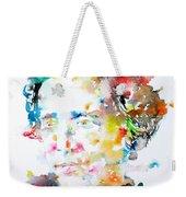 Lewis Carroll - Watercolor Portrait Weekender Tote Bag